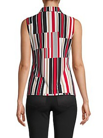 Tommy Hilfiger Abstract Stripe Sleeveless Top