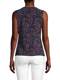 Tommy Hilfiger Paisley-Print Sleeveless Top