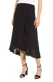 Tommy Bahama Oasis Waves Flounce Midi Skirt