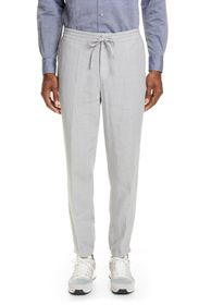 Z Zegna Slim Fit Linen Jogger Pants