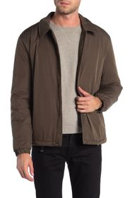 Cole Haan Faux Shearling Lined Coach Jacket