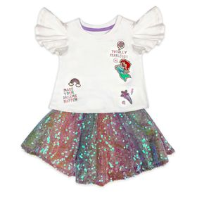 Disney Ariel T-Shirt and Skirt Set for Girls – The