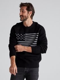 Lucky Brand Usa Flag Novelty Crew