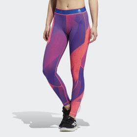 Adidas Women's Training Pink Alphaskin Graphic Lon