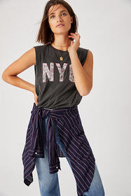 Anthropologie NYC Muscle Graphic Tank