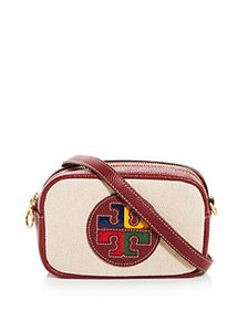 Tory Burch - Perry Color Block Canvas & Leather Mi