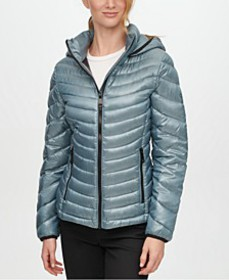 Hooded Packable Down Puffer Coat, Created for Macy