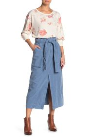 Free People Catching Feelings Linen Blend Skirt