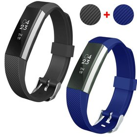 2pcs Silicone Replacement Wristband Band Strap wit on sale at Walmart