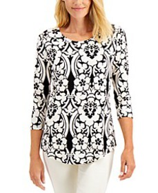 Scroll-Print Top, Created for Macy's