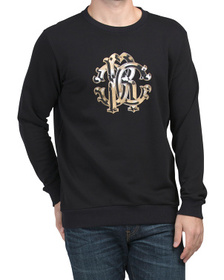 ROBERTO CAVALLI Made In Italy Crew Neck Leo Logo S