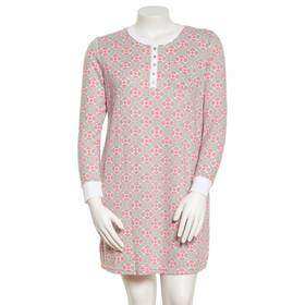 Plus Size White Orchid Long Sleeve Geo Print Henle