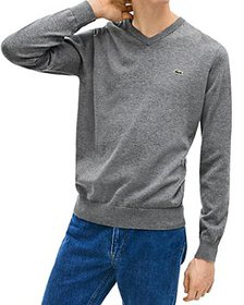 Lacoste - Cotton V-Neck Sweater