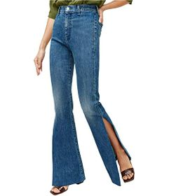 7 For All Mankind High Slit Flare in Retro Broadwa