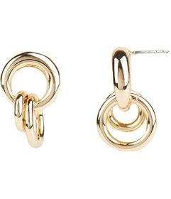 Rebecca Minkoff Duo Ring Cluster Post Earrings