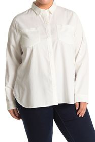 Madewell Ex-Boyfriend Long Sleeve Button Front Shi