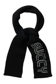 GUCCI Embellished Ribbed Wool Scarf