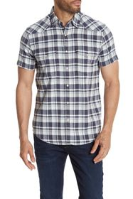 Lucky Brand Santa Fe Plaid Short Sleeve Shirt