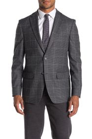 Tommy Hilfiger Grey Windowpane Stretch Fit Suit Se