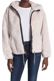 Lucky Brand Faux Fur Hooded Zip Jacket