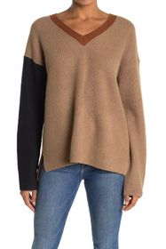 French Connection River Chari Color Block V-Neck S