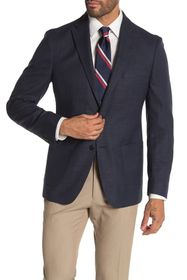 Tommy Hilfiger Blue Woven Two Button Performance F