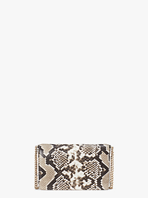 Kate Spade spencer python-embossed chain wallet