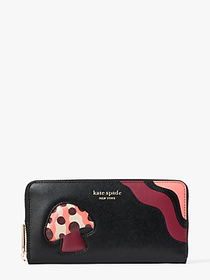 Kate Spade enchanted forest zip-around continental