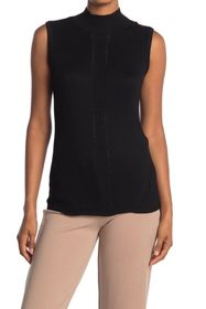 T Tahari Mock Neck Sleeveless Sweater Top