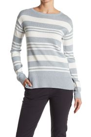 PUMA Striped Crew Neck Pullover Sweater