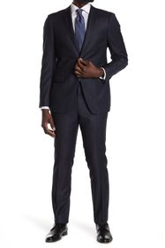 John Varvatos Collection Navy Sharskin Two Button
