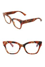 GUCCI 49mm Cat Eye Optical Glasses