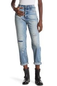 G-STAR RAW Midge High Distressed Boyfriend Jeans