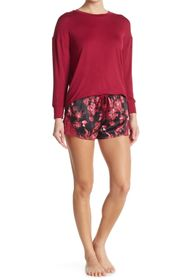 Catherine Malandrino Rose Garden Long Sleeve Top &