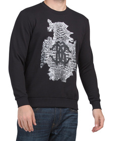 ROBERTO CAVALLI Made In Italy Crew Neck Murales Sw