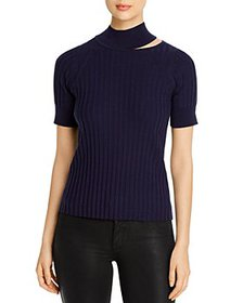 Elie Tahari - Bri Cutout Turtleneck Sweater