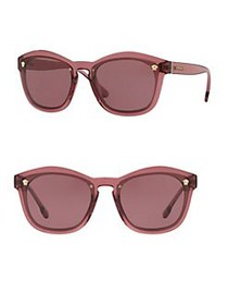 Versace Solid 57MM Pillow Shaped Sunglasses PINK