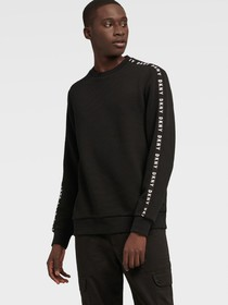 Donna Karan TEXTURE PULLOVER WITH LOGO TAPE