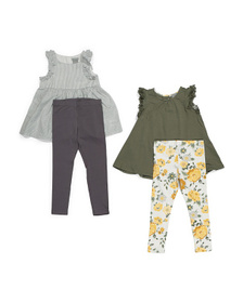 TAHARI Toddler Girl 2pc Ruffle Tank & Legging Set