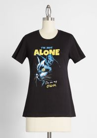 Never Alone Graphic Tee in Black