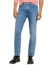 Sandro - Slim Cotton Jeans in Faded Blue