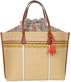 Tory Burch Perry Straw Oversized Tote
