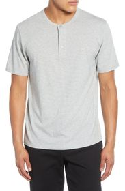 Vince Stripe Cotton Blend Henley T-Shirt
