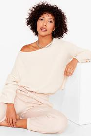 Nasty Gal Cream Knit's on the Agenda Relaxed Loung