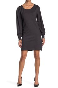 Max Studio Long Sleeve A-Line Sweater Dress