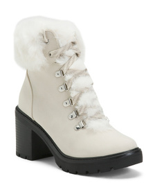 ESPRIT Cozy Heeled Lace Up Booties