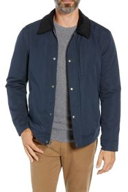 Cole Haan Corduroy Collar Zip Barn Jacket