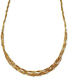 D'Oro by EFFY® Diamond Embellished Necklace (1-5/8