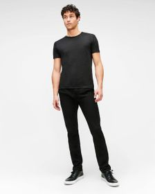7 For All Mankind Slim Chino in Black