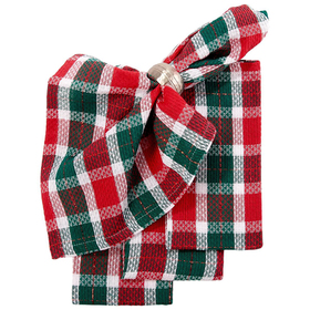 Christmas Breakfast Plaid Napkins Set Of 4